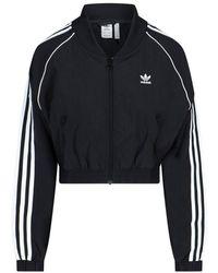 adidas Originals Adicolor Classic Cropped Track Jacket - Black