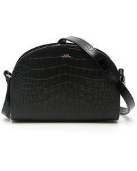 A.P.C. Demi Lune Half Moon Shoulder Bag - Black