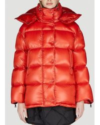 Moncler Female Orange 100% Polyamide. Down And Feather Filled Padding. Dry Clean.