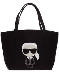 Karl Lagerfeld K/ikonik Logo Tote Bag - Black
