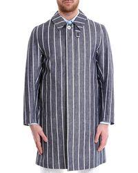 Mackintosh - Blue Cotton Coat - Lyst