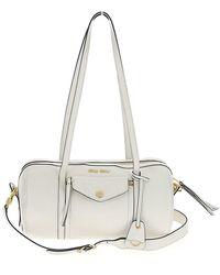 Miu Miu Grace Lux Duffle Bag - White