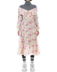 Junya Watanabe Layered Sweater Dress - Pink