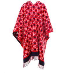 Gucci GG Reversible Asymmetric Poncho - Red