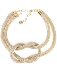 Silvia Gnecchi - Oversized Knot Necklace - Lyst