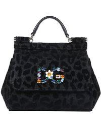 Dolce & Gabbana - Leopard Print Sicily Mini Tote Bag - Lyst