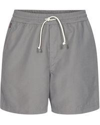 Brunello Cucinelli Drawstring Swim Shorts - Gray