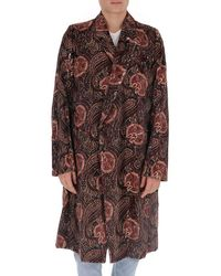 Ann Demeulemeester - Paisley Printed Clutch Coat - Lyst