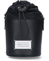 Maison Margiela 5ac Micro Drawstring Bucket Shoulder Bag - Black