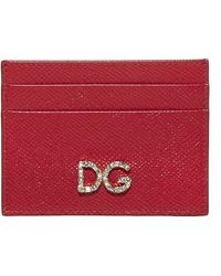 Dolce & Gabbana Logo Cardholder - Red