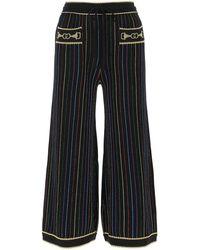 Gucci Striped Culotte Trousers - Black