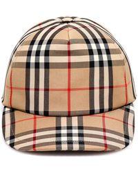 Burberry Logo Appliqué Vintage Check Baseball Cap - Natural