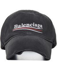 Balenciaga Political Campaign Cotton Baseball Cap - Black
