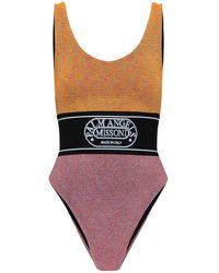 Palm Angels X Missoni Colour-block One-piece Swimsuit - Multicolour