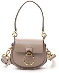 Chloé Tess Small Shoulder Bag - Grey