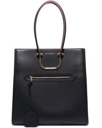 Alexander McQueen Tall Story Tote - Black