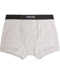 Tom Ford Logo Boxer Shorts - Grey