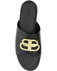 Balenciaga Bb Logo Sandals - Black
