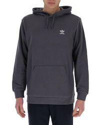adidas Originals Loungewear Trefoil Essentials Hoodie - Grey