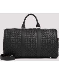 Bottega Veneta Duffle Intrecciato Travel Bag - Black