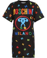 Moschino Printed T-shirt Dress - Black