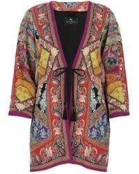 Etro Floral Printed Kimono Jacket - Multicolor