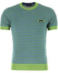 Prada - Striped T-shirt - Lyst