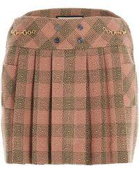 Gucci Optical Damier Mini Skirt - Pink
