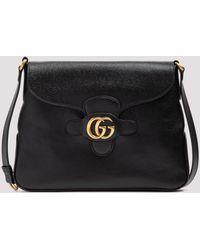 Gucci Double G Medium Messenger Bag - Black