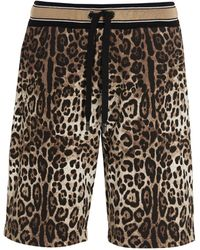 Dolce & Gabbana Leopard Printed Shorts - Multicolour