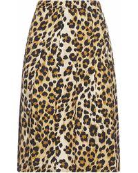 Moschino Animalier Print Viscose Skirt - Multicolour