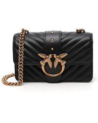 Pinko Love Mini Crossbody Bag - Black