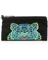 KENZO Tiger Pouch Wallet - Black