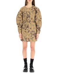 Ganni - Brocade Jacquard Mini Dress - Lyst