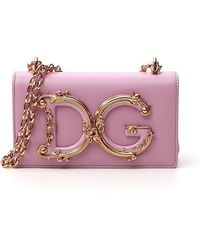 Dolce & Gabbana Dg Girls Phone Bag - Pink