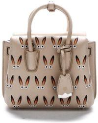 MCM Top Handle Tote Bag - Natural