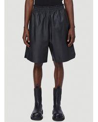 Bottega Veneta - Leather Shorts - Lyst