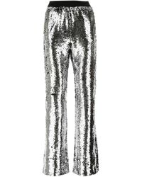 Golden Goose Deluxe Brand Kelly Sequin-embellished Wide-leg Trousers - Metallic
