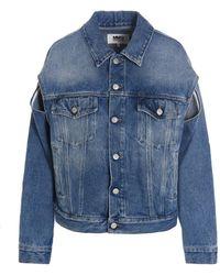 MM6 by Maison Martin Margiela Denim Jacket - Blue