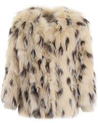 Miu Miu Fox Fur Jacket - Natural