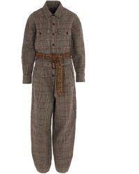 R13 Cotton Jumpsuit - Brown