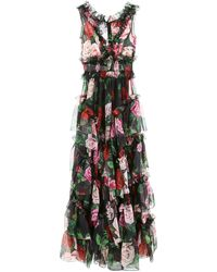 Dolce & Gabbana Floral Print Dress - Multicolor