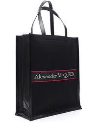 Alexander McQueen Logo Tote Bag - Black
