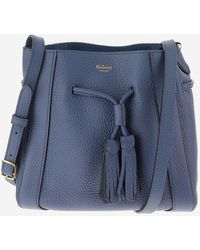 Mulberry Drawstring Tassel Detailed Shoulder Bag - Blue
