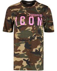 DSquared² Icon Cotton T-shirt - Multicolor