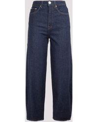 Totême Barrel Leg Denim Jeans - Blue