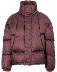 Dior Dior Oblique Downjacket Wintercoat - Purple