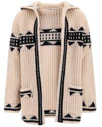 Saint Laurent Baja Knit Cardigan - Natural