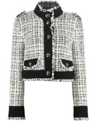 Dolce & Gabbana Cotton Blend Tweed Jacket - White
