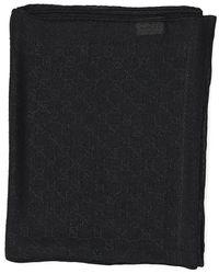 Gucci Logo Star Print Scarf - Black